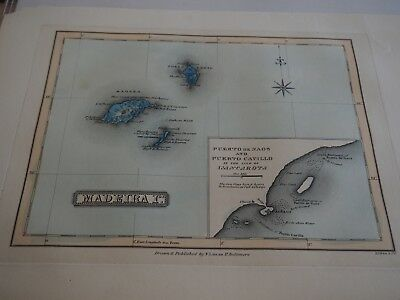Madeira Islands, Fielding Lucas, Jr., 1823, Published in Baltimore MD