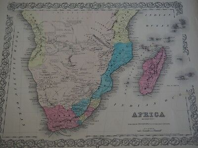 Colton's Africa-From Colton's Wolrd Atlas-1855-Free Ship