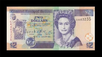 1.1.1999 British Colony Belize Qeii $2 (( Gem Unc ))