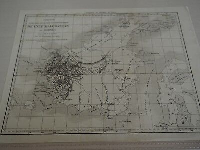 "Antique Map ""From Kalemantan Island or Borneo"" French Version"