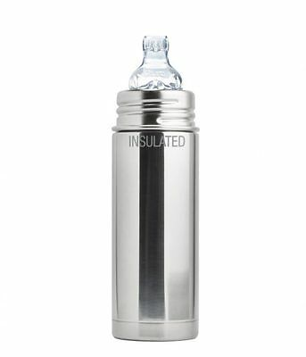 Pura Kiki Stainless Steel Baby Infant Insulated Sippy Bottle 9 oz Natural Mirror