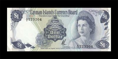 "1971 British Cayman Islands Qeii $1 ""a/1"" (( Gem Unc ))"