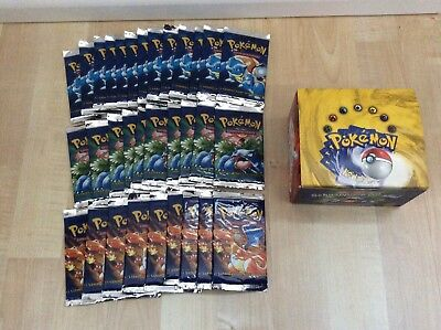 Pokemon Booster Basis-Set Erste Edition OVP Bisaflor/Glurak/Turtok