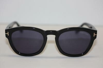 e7eb448b04 Tom Ford Bryan-02 TF590 TF 237 05B Black Plastic Blue Lens Designer  Sunglasses
