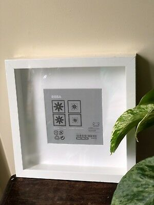 BRAND NEW IN packaging RIBBA ikea frame picture photo white square ...