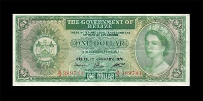 1.1.1976 BRITISH COLONY BELIZE / HONDURAS $1 **Consecutive 2 of 2** (( EF ))