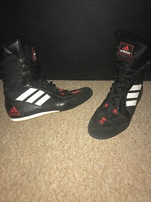 Adidas Black White Red Tygun Boxing Boots Shoes Retro Size 6