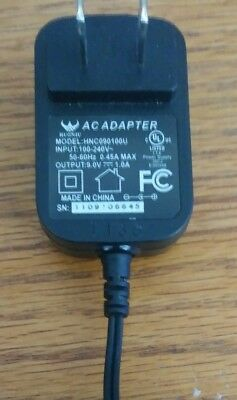 Genuine Huoniu AC Adapter Power Supply Charger HNC090100U 9V DC 1A 1000mA