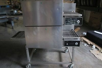 Double Stack Electric Lincoln Impinger 1132 Conveyor Pizza Oven 120/208 V