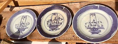 Three Chinese porcelain plates possibly Kangxi period
