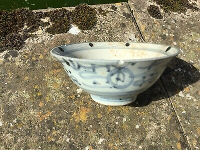 A Chinese blue and white porcelain bowl Zhangzhou ware 17th century? (or later)