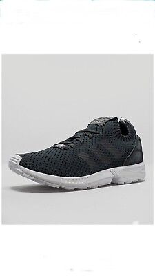 b9a9c9b5e adidas Originals ZX Flux Primeknit Men s Solid Grey White Black S75972