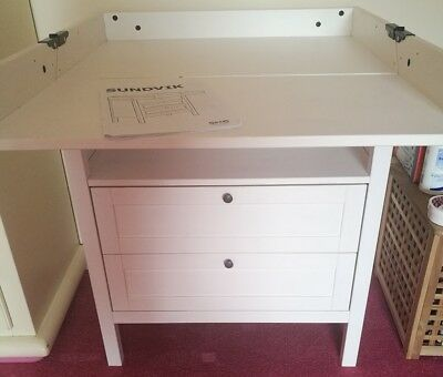 IKEA SUNDVIK BABY Changing Table, 3 Shelves. Good Condition, Includes Free  Mat.   £5.00 | PicClick UK