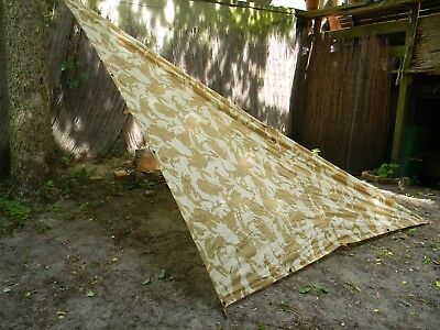 Basha Tarp Gb Desert Dpm Top Zustand Fur Outdoor Bushcraft