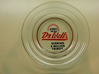 Vintage Dr Wells soda ashtray