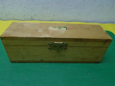 MICROTOME BLADE by Lipshaw MFG Co 1449 in a Wood Box Shows Some Wear