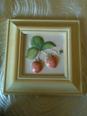 A Marlborough Majolica Hand Painted Ceramic Picture And Hand Painted Frame