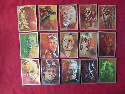 Set Of Star Wars Galaxy Art By Mark McHaley Trading Cards All 15 Topps 2012 Foil