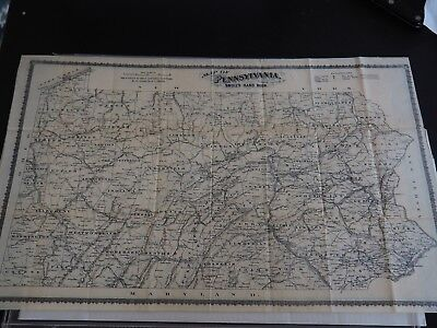 """Antique """"Map of Pennsylvania Prepared expressly for Smull's Hand Book"""" Singerly"""
