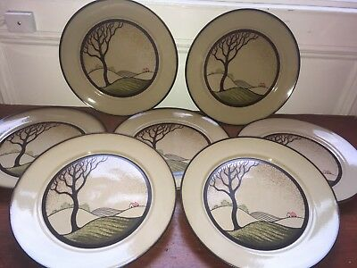 Denby Savoy Dinner Plates Set Of Seven