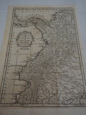 Map of the Countries on the South Sea from Panama to Guayquil...T Kitchin