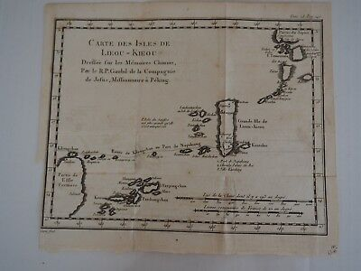 Antique Map: Carte Des Isles DE Lieou-Kieou Dreffee fur les memoires Chinois...