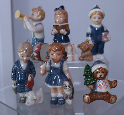 6psc of Royal Copenhagen  & B&G  Christmas Ornaments Boys Girls Bear Denmark dmg