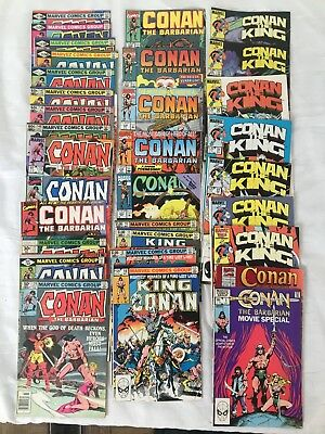 Lot Of 32 Issues Conan The Barbarian, King Conan, Marvel Comic Book Lot, Bronze