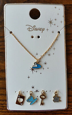 Primark Disney Alice in Wonderland - 5 Charm Necklace - NEW Key Tea Party Dress