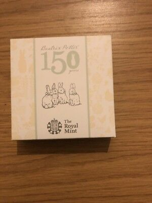 2016 Beatrix Potter 50P Fifty Pence 150Th Anniversary Silver Proof 7,500 Made