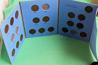 Great Britain Pennies 1881 thru 1901 Circulated Whitman Album 12 Coins #P