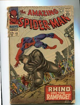 Amazing Spider-Man  #43  (1965)  2.5  Ow Pages  Lower Mid Grade Key Marvel