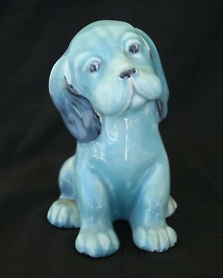 Vtg Beswick Pottery England Blue Lollopy Puppy Dog  A54
