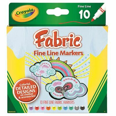 Crayola Fineliner Fabric Markers 10 Pack