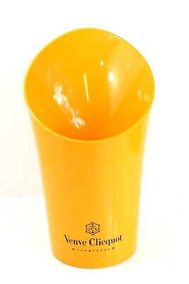 Veuve Clicquot Bright Yellow Plastic Champagne Promotional Barware Ice Bucket