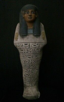 Rare ANCIENT EGYPT Antique EGYPTIAN Shabti Ushabti Large STATUE Luxor STONE BC