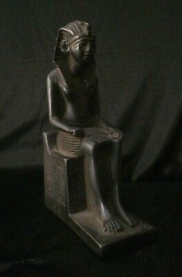 ANCIENT EGYPT PHARAOHS ANTIQUITIES Egyptian Statue KING RAMESSES Luxor Stone BC