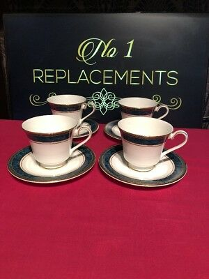 4 x Royal Doulton Biltmore Tea Cups And Saucers 1st Quality 2 Sets Available