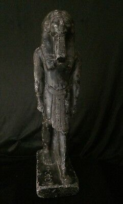 ANCIENT Egypt ANTIQUE Egyptian Statue Pharaoh GOD stone of PTAH 300-1500 BC