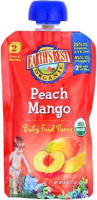 Earth'S Best Organic Peach Mango Baby Food Puree Stage 2 4 Oz. Pack of 6