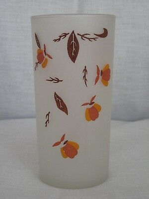 "Vintage Jewel Tea Autumn Leaf 12 oz Tumbler Drinking 5 1/2"" Glass by Libbey"