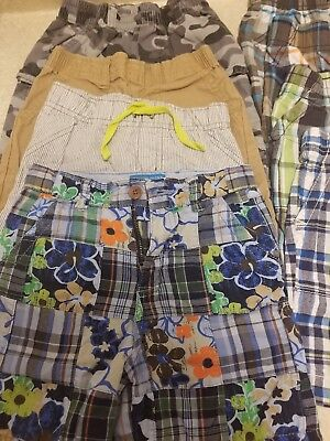 Toddler Boys 3T Shorts Lot. CARTERS CHILDRENS PLACE JUMPING BEANS GARANIMALS 8PR
