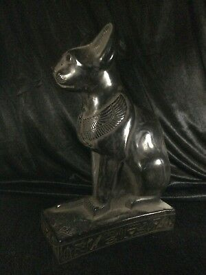 ANCIENT EGYPTIAN PHARAOHS STATUE Bastet Ubaste Cat Goddess Egypt Stone BC