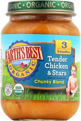 Earth'S Best Organic Tender Chicken And Stars Baby Food Stage 3 6 O… Pack of 6