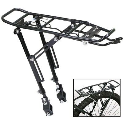 Alloy Rear Bicycle Pannier Rack Carrier Bag Luggage Cycle Mountain Bike Black D2