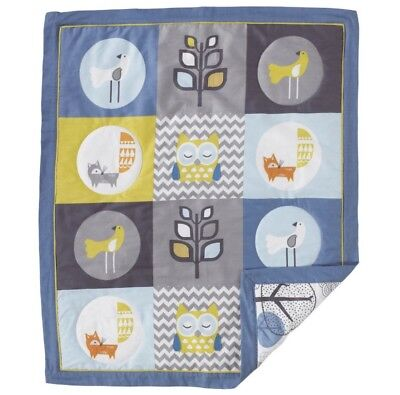 "Living Textiles Co. Lolli Living Baby Quilt - ""Woods"" - NWT - RRP $79.95"