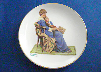 "Norman Rockwell ""Bedtime"" 1984 Limited Edition Porcelain Collector Plate"
