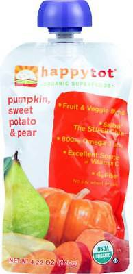 Happy Tot Toddler Food Organic Stage 4 Pumpkin Sweet Potato And Pea… Pack of 8