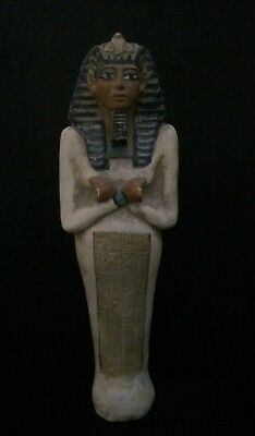 ANCIENT EGYPT ANTIQUE Ushabti TUTANKHAMUN EGYPTIAN Statue Shabti Luxor STONE BC