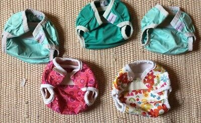 Baby Beehind & Bummis Nappy Covers x 5, Size Small, PUL